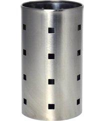 escorredor de talheres em inox porta utensilios 10x17cm - carisma
