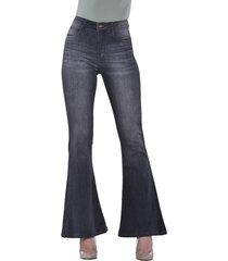 jeans tiro alto high waist flare 3230 gris amalia jeans