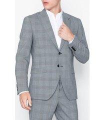 selected homme slhslim-leedmodo white check blazer kavajer & kostymer vit