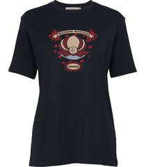 short sleeve tee with cool artworks t-shirts & tops short-sleeved blå scotch & soda