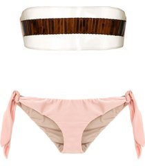 adriana degreas x cult gaia strapless bikini set - neutrals