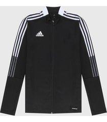 chaqueta negro-blanco adidas performance tiro 21