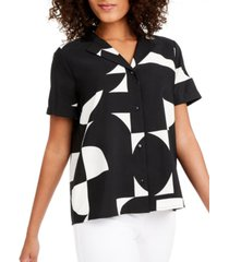 alfani colorblocked blouse, created for macy's