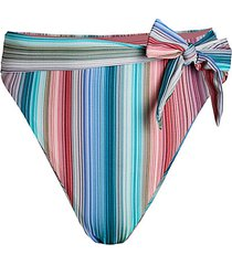adelaide striped high-rise bikini bottom