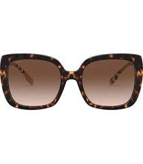 burberry burberry be4323 dark havana sunglasses