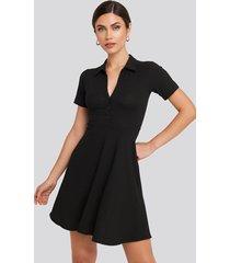 trendyol buttoned detailed shirt dress - black