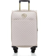 "guess g-lux travel 20"" softside carry-on spinner"