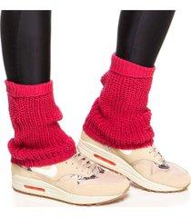 meias performance mulher elastica polaina fitness tricô - rosa escuro - u rosa - kanui