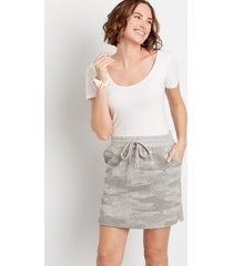 maurices womens camo french terry skirt green