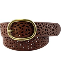 fashion focus perforated leather jean belt
