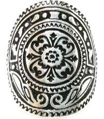 anel lolla925 mandala resina prata 925 - tricae