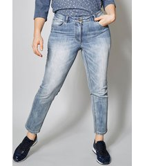 ankellånga jeans janet & joyce blå