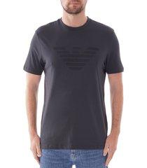 emporio armani eagle logo t-shirt |blue| 6g1tc0-1j00z 960