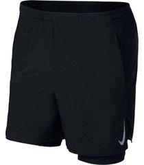 pantalonetas de hombre m nk chllgr short 5in 2in1 nike negro