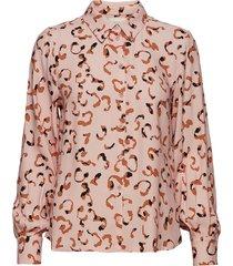 poslaura shirt blouse lange mouwen roze postyr