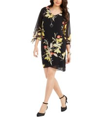 jm collection printed 3/4-sleeve shift dress, created for macy's