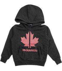 dsquared2 black cotton hoodie