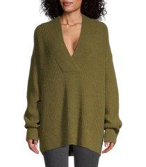 vince women's wool-blend oversized tunic sweater - botanica - size xxs