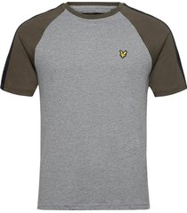 colour block t-shirt t-shirts short-sleeved grå lyle & scott