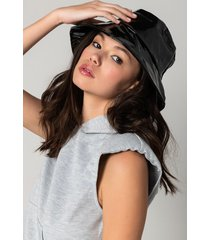 akira crazy sexy cool faux patent leather bucket hat