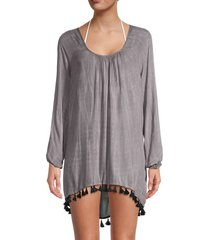 chaser women's tie-dyed babydoll coverup dress - tie dye - size m