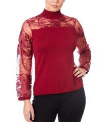 joseph a women's mixed media illusion sweater