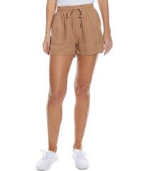 oat drawstring-waist shorts