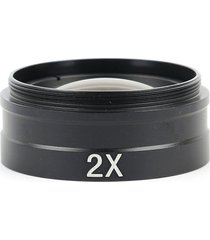lente de vidrio objetivo auxiliar 2x para lente de video microscopio monocular 10a