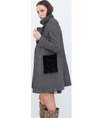 motivi cappotto lungo premium edition made with love donna grigio