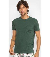 camiseta t-shirt jab bolso manga curta masculina