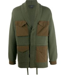 alanui relaxed-fit multi-pocket cardigan - green