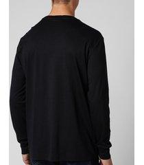 polo ralph lauren men's custom slim fit long sleeve t-shirt - polo black - l
