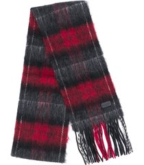 saint laurent checked mohair scarf - black