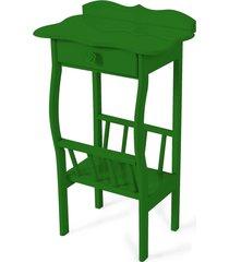 mesa lateral apoio sala revisteiro verde - verde - dafiti