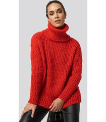 trendyol turtleneck knitted sweater - red