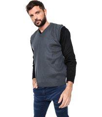 chaleco azul moni tricot