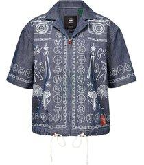 hawaiian shirt chambray