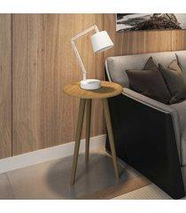 mesa de canto redonda brilhante 2075281 cinamomo - bechara móveis