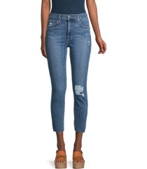 joe's jeans women's high-rise skinny jeans - peel - size 23 (00)