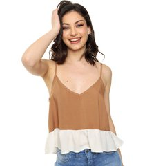 blusa marrón vespertine
