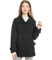 abrigo bunnys negro - calce regular