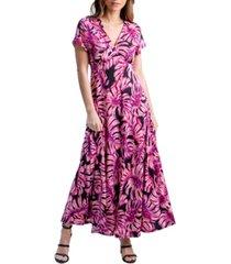 women's cap sleeve empire waist maxi dress