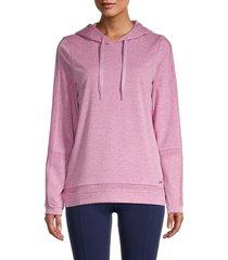 marc new york performance women's drawstring hoodie - berry heather - size m
