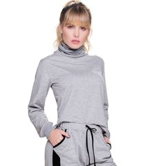 buzo adulto femenino gris jaspe marketing  personal
