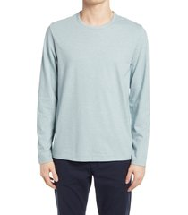 men's vince regular fit feeder stripe slub long sleeve t-shirt, size x-large - blue