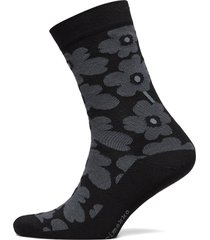 hieta unikko socks lingerie socks regular socks svart marimekko