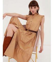 motivi vestito chemisier con cintura donna beige