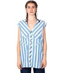 oversized sleeveless shirt