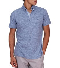 tailorbyrd men's christopher melange polo shirt - teal - size xxl