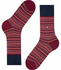 burlington socks country fair isle socks | burgundy | 21922-8005